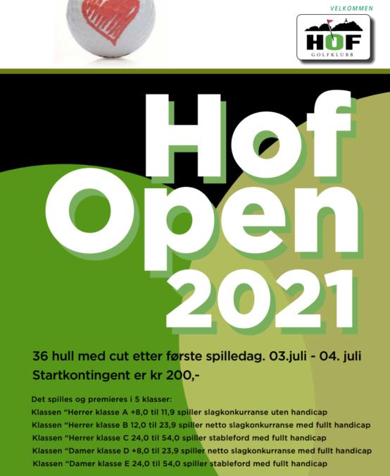 Velkommen til Hof Open 2021